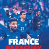 affiche FRANCE / PARAGUAY - MATCH INTERNATIONAL